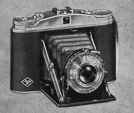 While not the exact model I have, the Agfa Isolette II had all the same features and options as the original Agfa Isolette with the added right side knob in case the operator wanted to reverse the film once shot back into the original spool.
