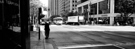 The F streetcar line on Market St.